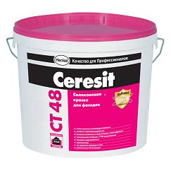 Ceresit CT 48 Силиконовая краска для внутренних и наружных работ