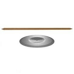 Штифт (шпилька) стальной омеденный приварной 3 mm и шайба прижимная 38 mm